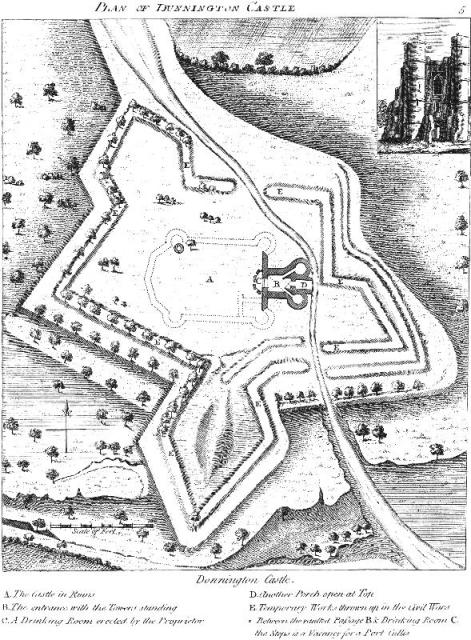 18th C Plan of Donnington Castle